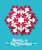 Paper snowflake — Stok Vektör