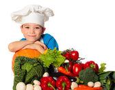 Niño cocinero — Foto de Stock