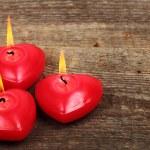tři svíčky — Stock fotografie