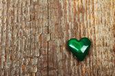 Coração de malaquita — Fotografia Stock