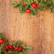 Dogrose on a wooden surface — Stock Photo #6648173