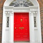 Georgian doors in Dublin — Stock Photo