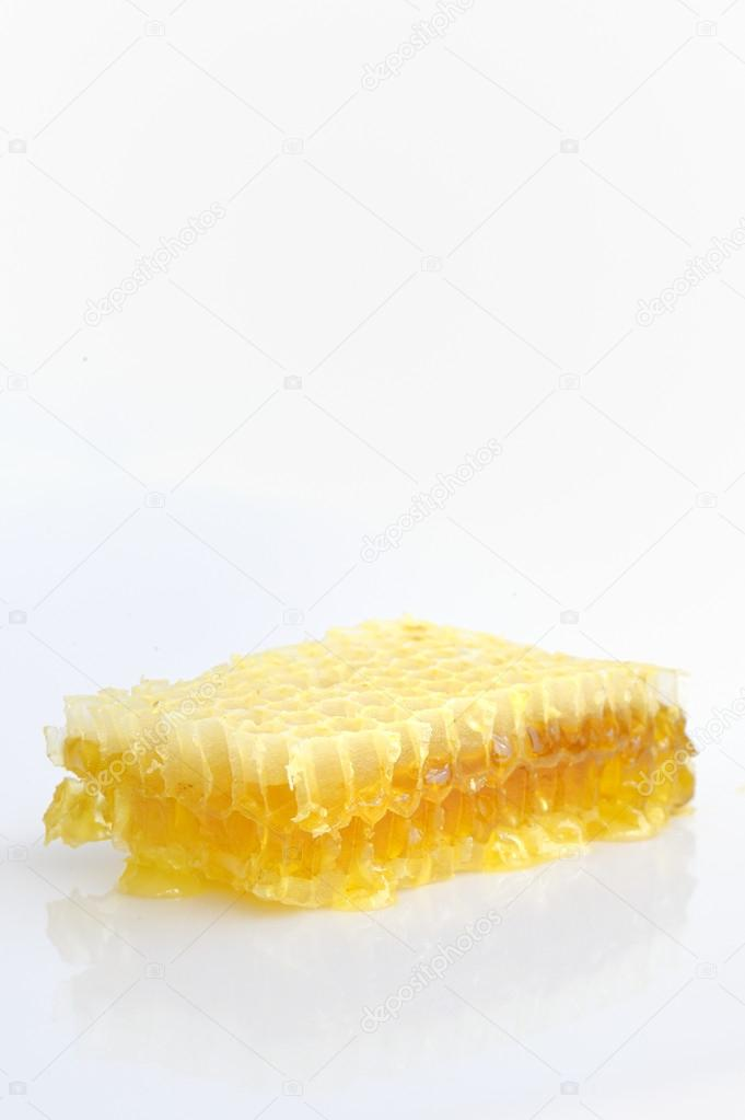 Honeycomb isolated on white background  — Stockfoto #12484736