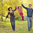 Happy family having fun — Stock Photo