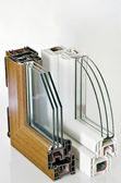 PVC window profile — Stock Photo