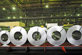 Rullar av stålplåt — Stockfoto