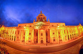 Custom House on the river Liffey in Dublin fish-eye at night. — Stock Photo