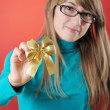 Stock Photo: Girl with bow
