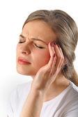 Woman head pain — Stock Photo