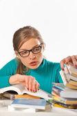 Teen girl studying — Stock Photo