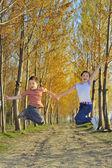 Ormanda çocuk oyun — Stok fotoğraf
