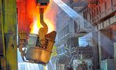 Molten hot steel — Stock Photo