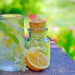 Stock Photo: Elderflower and lemon juice