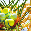 Easter eggs in basket — Stock Photo #2693350