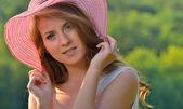 Portrait of pretty cheerful girl — Stock Photo