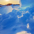 Greenland sunset — Stock Photo
