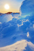 Grönland sunset — Stockfoto