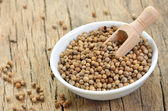 Dried coriander seeds — Stock Photo