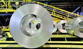 Sheet tin metal rolls — Stock Photo