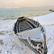 Boat in winter time — Stock Photo #40788731