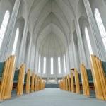 Inside of The Hallgrimskirkja Church, Reykjavik — Stock Photo #48710073