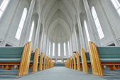 Inside of The Hallgrimskirkja Church, Reykjavik — Stock Photo