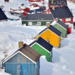 Colorful houses in Greenland — Stock Photo #49300543