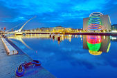 Samuel Beckett Bridge in Dublin — Stock Photo