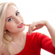 Beauty blond young woman portarit — Stock Photo