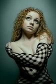 Red hair woman studio portrait — Stock Photo