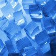 Cool ice background in blue — Stock Photo