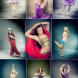 Female Dancer Collage — Stock Photo