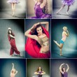 Royalty-Free Stock Photo: Female Dancer Collage