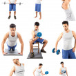 Fitness Collage — Stock Photo