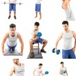 Fitness Collage — Stock Photo #13196062