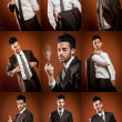 Businessman Collage — Stock Photo