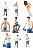 Fitness Collage — Foto Stock