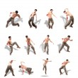 Royalty-Free Stock Photo: Collage of Dancer with naked chest