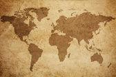 Wereld kaart textuur achtergrond — Stockfoto