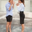 Arguing businesswoman — Stock Photo