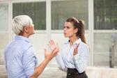 Arguing businesswoman — Stock Photo