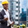 Afro american construction engineer — Stock Photo
