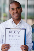 Afro american oculist — Stock Photo