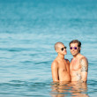 Gay couple in water — Stock Photo