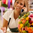 Florist is phoning — Stock Photo #34495939