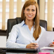 Stock Photo: Female Manager at the office