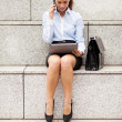 Brunette businesswomis phoning — Stock Photo #35753667