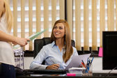 Female Manager at the office — Stock Photo