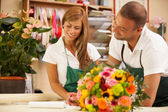 Two florists are working — Stock Photo