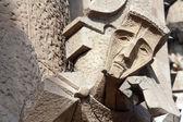 Sagrada Familia facade statue in Barcelona — Stock Photo